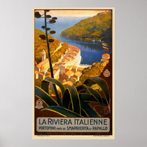 Poster del viaje de Riviera Europa Italia del