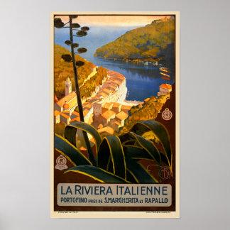Poster del viaje de Riviera Europa Italia del Póster