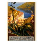 Poster del viaje de Riviera Europa Italia del Postal