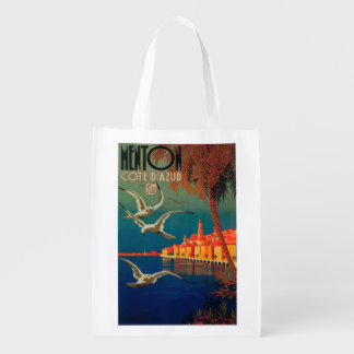 Poster del viaje de riviera francesa # 1 bolsas de la compra