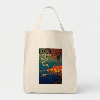 Poster del viaje de riviera francesa # 1 bolsa tela para la compra