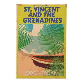 Poster del viaje de San Vicente y las Granadinas Impresiones En Madera