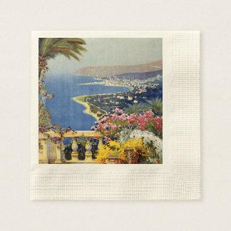 Poster del viaje de Sanremo del vintage Servilleta De Papel