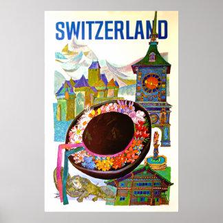 Poster del viaje de Suiza del vintage