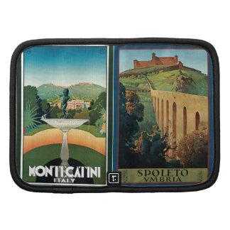 Poster del viaje de Umbría Italia del vintage Organizadores
