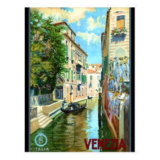 Poster del viaje de Venecia del vintage Postal