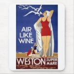 Poster del viaje de Weston del vintage Alfombrilla De Ratón