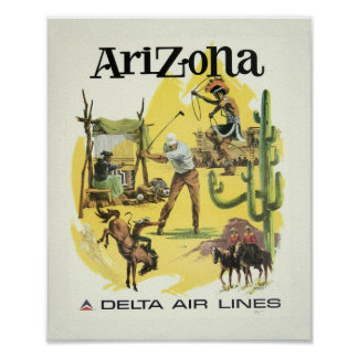 Poster del viaje del aeroplano de Arizona del Póster