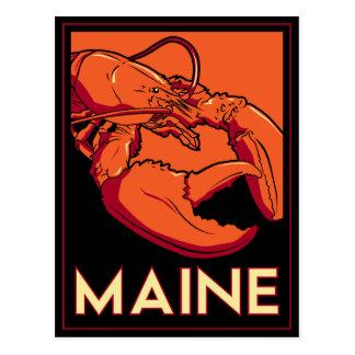 Poster del viaje del art déco de Maine Postal