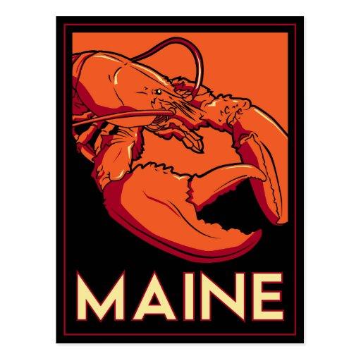 Poster del viaje del art déco de Maine Tarjeta Postal