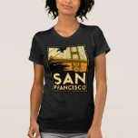 Poster del viaje del art déco de San Francisco Camiseta