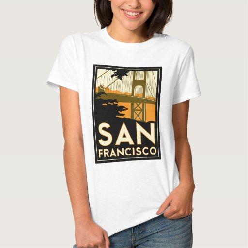 Poster del viaje del art déco de San Francisco Playeras