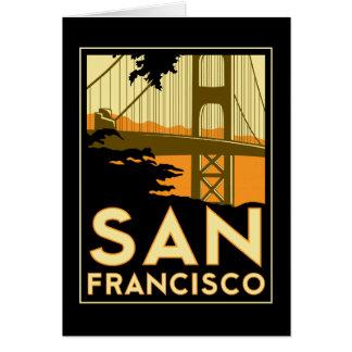 Poster del viaje del art déco de San Francisco Tarjeton