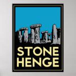 Poster del viaje del art déco de Stonehenge