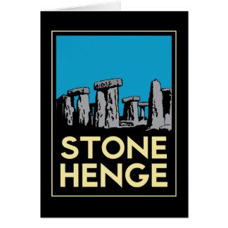 Poster del viaje del art déco de Stonehenge Tarjeta