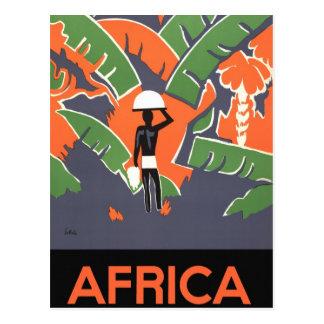 Poster del viaje del art déco del vintage, selva a tarjeta postal