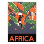 Poster del viaje del art déco del vintage, selva tarjeta de felicitación