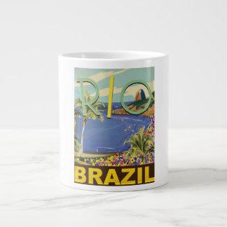 Poster del viaje del Brasil Taza Grande
