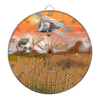 Poster del viaje del campo de trigo de Kansas del