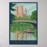 Poster del viaje del Central Park del vintage