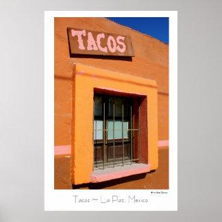 ~ poster del viaje del ~ de La Paz, México del Tac