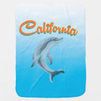 Poster del viaje del delfín de California del Mantas De Bebé