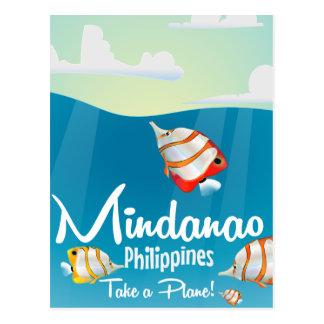 Poster del viaje del dibujo animado de Mindanao, Tarjeta Postal