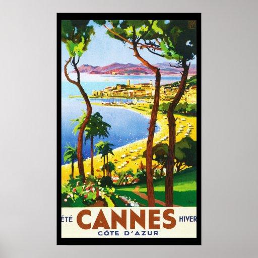 Poster del viaje del francés de Cannes Cote d'Azur