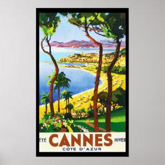 Poster del viaje del francés de Cannes Cote d'Azur Póster