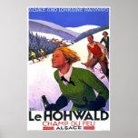 Poster del viaje del francés de Le Hohwald Vintage
