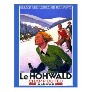 Poster del viaje del francés de Le Hohwald Vintage Tarjetas Postales