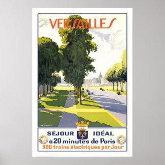 Poster del viaje del francés del vintage de