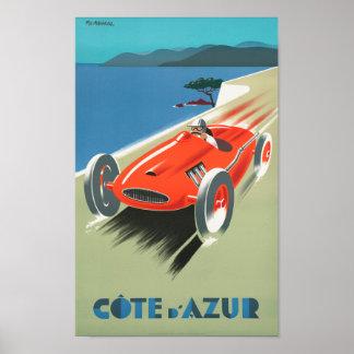 Poster del viaje del francés del vintage de Cote