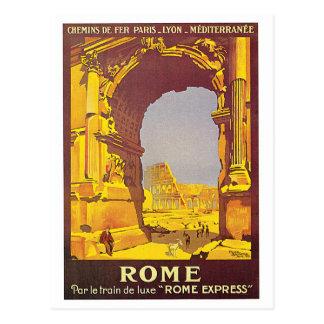 """Poster del viaje del francés del vintage de """"Roma"""" Tarjeta Postal"""