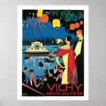 Poster del viaje del francés del vintage de Vichy