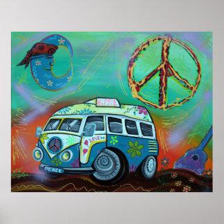 Poster del viaje del Hippie