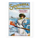 Poster del viaje del inglés del vintage tarjetas postales