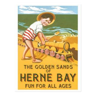 Poster del viaje del inglés del vintage postal
