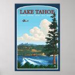 Poster del viaje del lago Tahoe