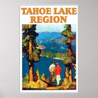 Poster del viaje del lago Tahoe del vintage