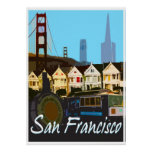 Poster del viaje del montaje del vintage de San Fr