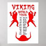 Poster del viaje del mundo de Viking