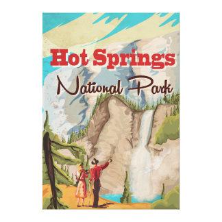Poster del viaje del parque nacional de las aguas lona estirada galerias