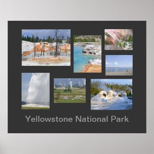 Poster del viaje del parque nacional de Yellowston
