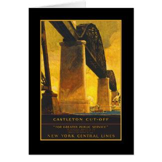 Poster del viaje del puente del atajo de Castleton Felicitación