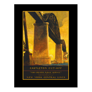 Poster del viaje del puente del atajo de Castleton Tarjeta Postal