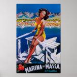 Poster del viaje del puerto deportivo de Massa