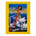 Poster del viaje del puerto deportivo de Massa Postales