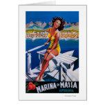 Poster del viaje del puerto deportivo de Massa Tarjeta De Felicitación