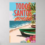 Poster del viaje del Todos Santos México Póster